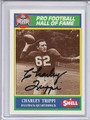 Charley Trippi Autographed Football Card #92710S