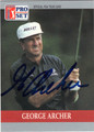 GEORGE ARCHER AUTOGRAPHED GOLF CARD #92812G