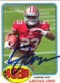 LaMICHAEL JAMES SAN FRANCISCO 49ers AUTOGRAPHED FOOTBALL CARD #92813A