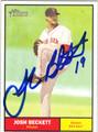 JOSH BECKETT AUTOGRAPHED BASEBALL CARD #93012M