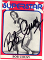 BOB COUSY BOSTON CELTICS AUTOGRAPHED VINTAGE BASKETBALL CARD #11214G