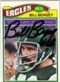BILL BERGEY PHILADELPHIA EAGLES AUTOGRAPHED VINTAGE FOOTBALL CARD #11214i