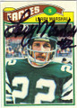 LARRY MARSHALL PHILADELPHIA EAGLES AUTOGRAPHED VINTAGE FOOTBALL CARD #11314F