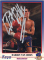 DARRIN VAN HORN AUTOGRAPHED BOXING CARD #11314M