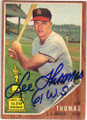 LEE THOMAS LOS ANGELES ANGELS AUTOGRAPHED VINTAGE ROOKIE BASEBALL CARD #11514C