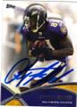 ANQUAN BOLDIN BALTIMORE RAVENS AUTOGRAPHED FOOTBALL CARD #11614B