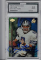 TROY AIKMAN DALLAS COWBOYS GRADED, AUTOGRAPHED FOOTBALL CARD #11714G