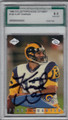 KURT WARNER ST LOUIS RAMS GRADED, AUTOGRAPHED FOOTBALL CARD #11714i