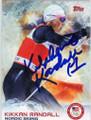KIKKAN RANDALL OLYMPIC NORDIC SKIING AUTOGRAPHED CARD #11714M