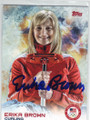 ERIKA BROWN AUTOGRAPHED OLYMPIC CURLING CARD #11714P