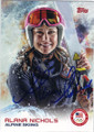 ALANA NICHOLS ALPINE SKIING AUTOGRAPHED OLYMPICS CARD #11814D