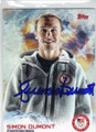 SIMON DUMONT OLYMPIC FREESKIING AUTOGRAPHED CARD #11814E