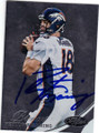 PEYTON MANNING DENVER BRONCOS AUTOGRAPHED FOOTBALL CARD #11914P