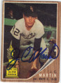 JC MARTIN CHICAGO WHITE SOX AUTOGRAPHED VINTAGE ROOKIE BASEBALL CARD #12014K
