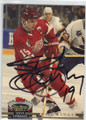STEVE YZERMAN DETROIT RED WINGS AUTOGRAPHED HOCKEY CARD #12014N