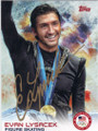 EVAN LYSACEK OLYMPIC FIGURE SKATING AUTOGRAPHED CARD #12114F