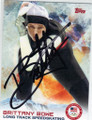 BRITTANY BOWE OLYMPIC SPEEDSKATING AUTOGRAPHED CARD #12114R