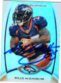 WILLIS McGAHEE DENVER BRONCOS AUTOGRAPHED FOOTBALL CARD #12214G