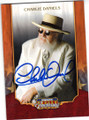 CHARLIE DANIELS COUNTY SINGER AUTOGRAPHED CARD #12214L
