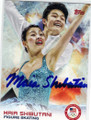 MAIA SHIBUTANI OLYMPIC FIGURE SKATING AUTOGRAPHED CARD #12214S