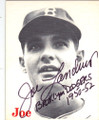 JOE LANDRUM BROOKLYN DODGERS PITCHER AUTOGRAPHED VINTAGE BASEBALL CARD #12314R