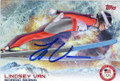 LINDSEY VAN OLYMPIC NORDIC SKIING AUTOGRAPHED CARD #12414D