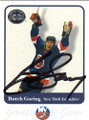BUTCH GORING NEW YORK ISLANDERS AUTOGRAPHED HOCKEY CARD #12414i
