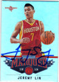 JEREMY LIN HOUSTON ROCKETS AUTOGRAPHED BASKETBALL CARD #12614H