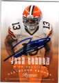 JOSH GORDON CLEVELAND BROWNS AUTOGRAPHED FOOTBALL CARD #12714i