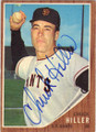 CHUCK HILLER SAN FRANCISCO GIANTS AUTOGRAPHED VINTAGE BASEBALL CARD #12714L