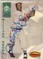 WILLARD BROWN KANSAS CITY MONARCHS AUTOGRAPHED BASEBALL CARD #12814A