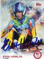 ERIN HAMLIN AUTOGRAPHED OLYMPIC LUGE CARD #12814C
