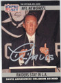 AL DAVIS LOS ANGELES RAIDERS AUTOGRAPHED FOOTBALL CARD #12814G