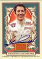 MARIO ANDRETTI AUTOGRAPHED NASCAR CARD #12814P