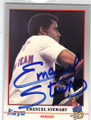 EMANUEL STEWARD AUTOGRAPHED MISPRINT BOXING CARD #12814Q