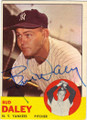 BUD DALEY NEW YORK YANKEES AUTOGRAPHED VINTAGE BASEBALL CARD #12914S
