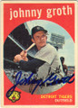 JOHNNY GROTH DETROIT TIGERS AUTOGRAPHED VINTAGE BASEBALL CARD #13014A