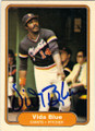 VIDA BLUE SAN FRANCISCO GIANTS AUTOGRAPHED VINTAGE BASEBALL CARD #13014N