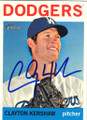 CLAYTON KERSHAW LOS ANGELES DODGERS AUTOGRAPHED BASEBALL CARD #13114D