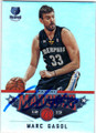 MARC GASOL MEMPHIS GRIZZ;IES AUTOGRAPHED BASKETBALL CARD #13114H