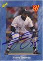 FRANK THOMAS CHICAGO WHITE SOX AUTOGRAPHED ROOKIE BASEBALL CARD #20414K