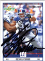 MICHAEL STRAHAN NEW YORK GIANTS AUTOGRAPHED & NUMBERED FOOTBALL CARD #20614H