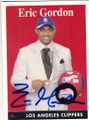 ERIC GORDON LOS ANGELES CLIPPERS AUTOGRAPHED ROOKIE BASKETBALL CARD #20714B