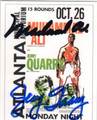 MUHAMMAD ALI & JERRY QUARRY DOUBLE AUTOGRAPHED BOXING CARD #20814E