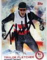 TAYLOR FLETCHER NORDIC SKIING AUTOGRAPHED OLYMPIC CARD #21014F