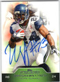MARSHAWN LYNCH SEATTLE SEAHAWKS AUTOGRAPHED FOOTBALL CARD #21014L