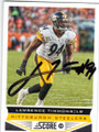 LAWRENCE TIMMONS PITTSBURGH STEELERS AUTOGRAPHED FOOTBALL CARD #21314F