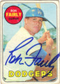 RON FAIRLY LOS ANGELES DODGERS AUTOGRAPHED VINTAGE BASEBALL CARD #21614C