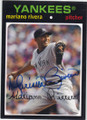 MARIANO RIVERA NEW YORK YANKEES AUTOGRAPHED BASEBALL CARD #21614E