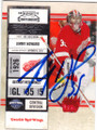 JIMMY HOWARD DETROIT RED WINGS AUTOGRAPHED HOCKEY CARD #21714C